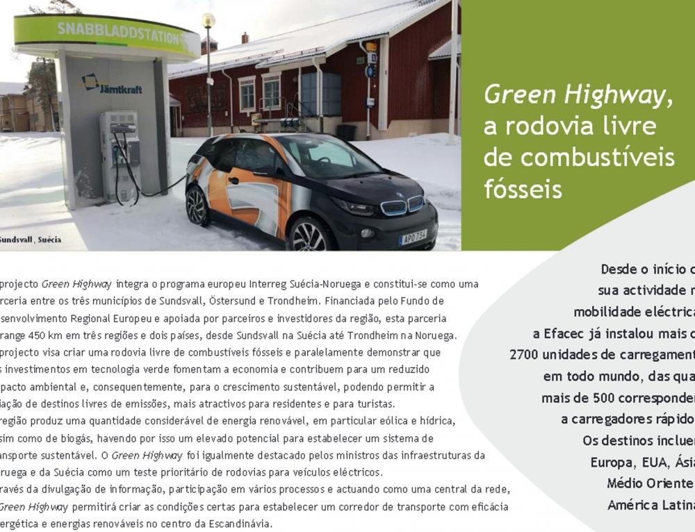 Sistemas Efacec de Carga Rápida para Veículos Eléctricos equipam 430 km da auto-estrada alemã A9, no troço entre Munique e Leipzig