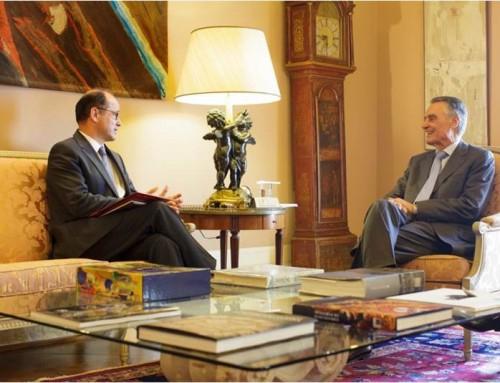 João Bento em audiência com o Presidente da República