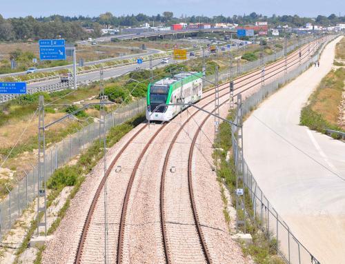 Circulação na linha do Tren-Tranvía de Cádiz
