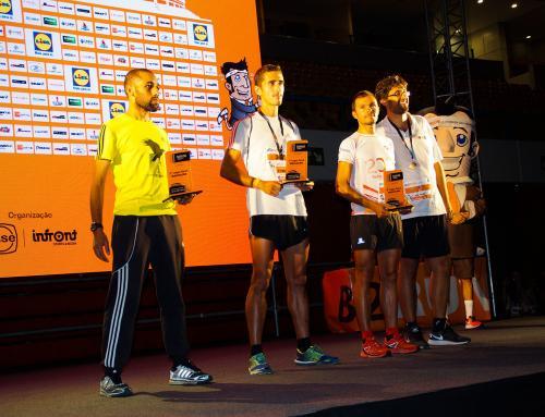 Equipe Efacec qui a participé au B2RUN et qui a conquis une place sur le podium