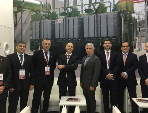 L'Ambassadeur du Portugal aux Emirats Arabes Unis visite le stand Efacec à Middle East Electricity