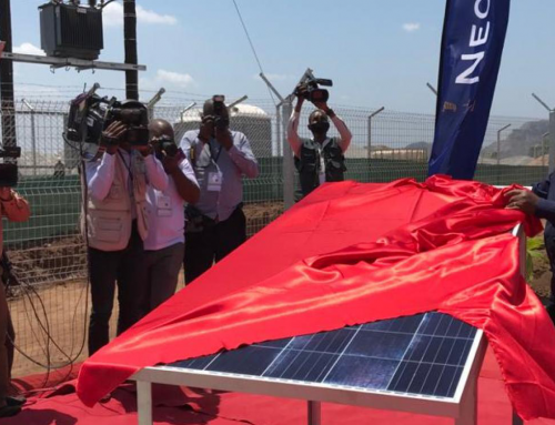 Construction works of Meteoro Solar Power Plant begins with the presence of the President of Mozambique
