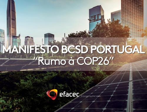 """Efacec associa-se ao Manifesto """"Rumo à COP26"""" em defesa do ambiente"""